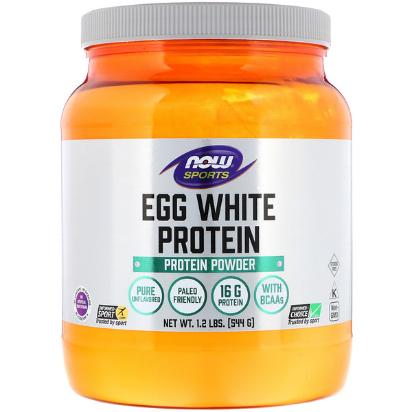 Now Foods, Egg White Protein, Protein Powder, 1.2 lbs (544 g)