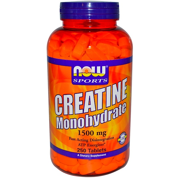 Now Foods, Sports, Creatine Monohydrate, 1500 mg, 250 Tablets (Discontinued Item)
