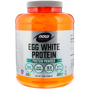 Now Foods, Sports, Egg White Protein Powder, 5 lbs (2268 g) отзывы