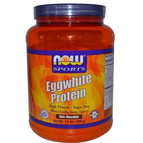 Now Foods, Протеин яичного белка, насыщенный шоколадный вкус, 1,5 фунта (680 г)  (Discontinued Item)