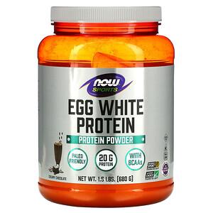 Now Foods, Eggwhite Protein, Creamy Chocolate, 1.5 lbs (680 g) отзывы