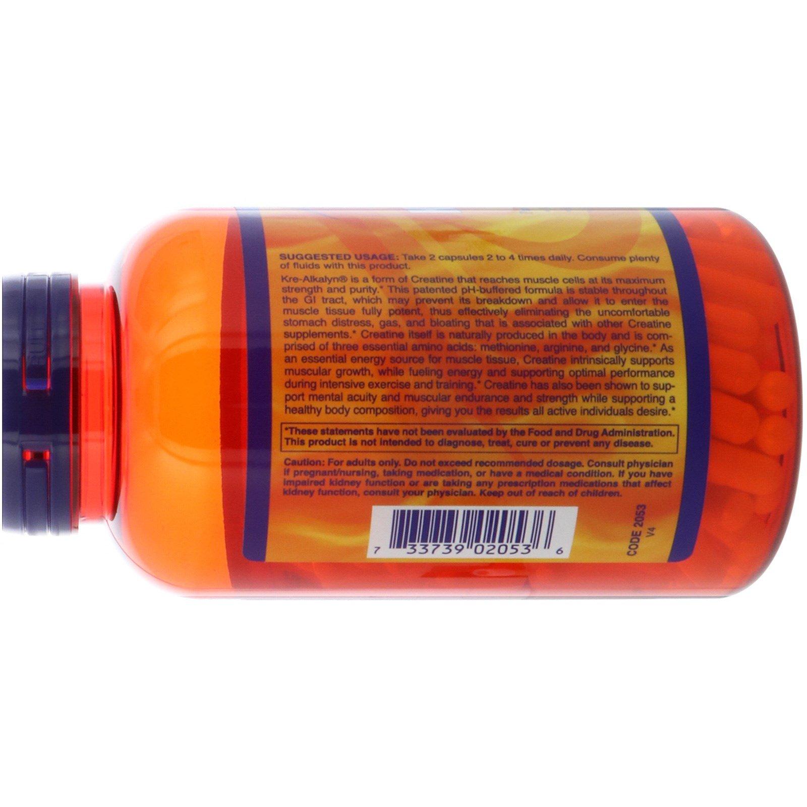 Now Foods Sports Kre Alkalyn Creatine 240 Capsules Iherb
