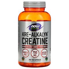 Now Foods, Sports,Kre-Alkalyn Creatine,750 毫克,240 粒素食膠囊