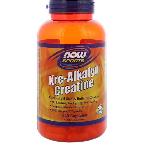 Now Foods, Sports, Kre-Alkalyn Creatine, 240 Capsules