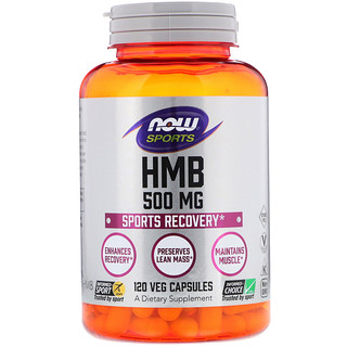 Now Foods, HMB, Sports Recovery, 500 mg, 120 Veg Capsules