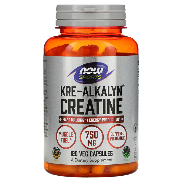 Now Foods, Deportes, creatina Kre-Alkalyn, 120 cápsulas