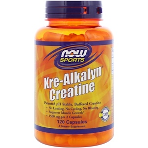 Now Foods, Sports, Kre-Alkalyn Creatine, 120 Capsules отзывы покупателей