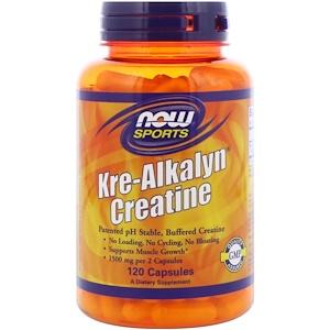 Now Foods, Sports, Kre-Alkalyn Creatine, 120 Capsules отзывы