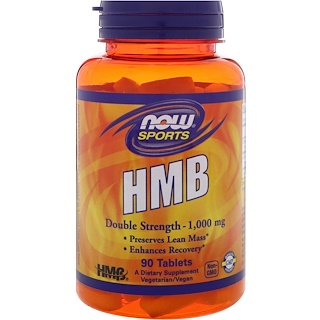 Now Foods, HMB, Doble fuerza, 1000 mg, 90 tabletas