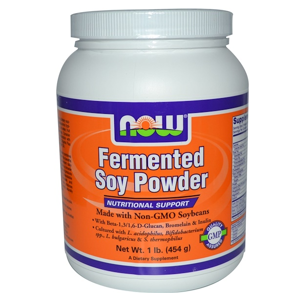 Now Foods, Fermented Soy Powder, 1 lb (454 g) (Discontinued Item)