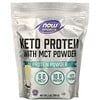 Now Foods, Sports, Keto Protein with MCT Powder, Vanilla Cream, 1 lb (454 g)