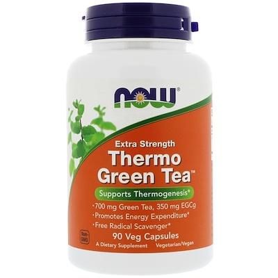 Купить Now Foods Зеленый термо чай, 90 вегетарианских капсул