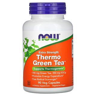 Now Foods, Thermo Green Tea(サーモグリーンティー)、高濃度タイプ、ベジカプセル90粒