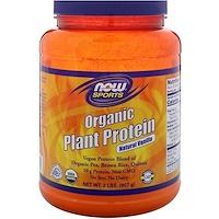 Органический растительный протеин, натуральная ваниль, 2 фунта (907 г) - фото
