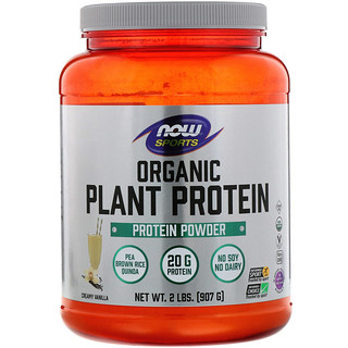 Now Foods, Organic Plant Protein, Creamy Vanilla, 2 lbs (907 g)