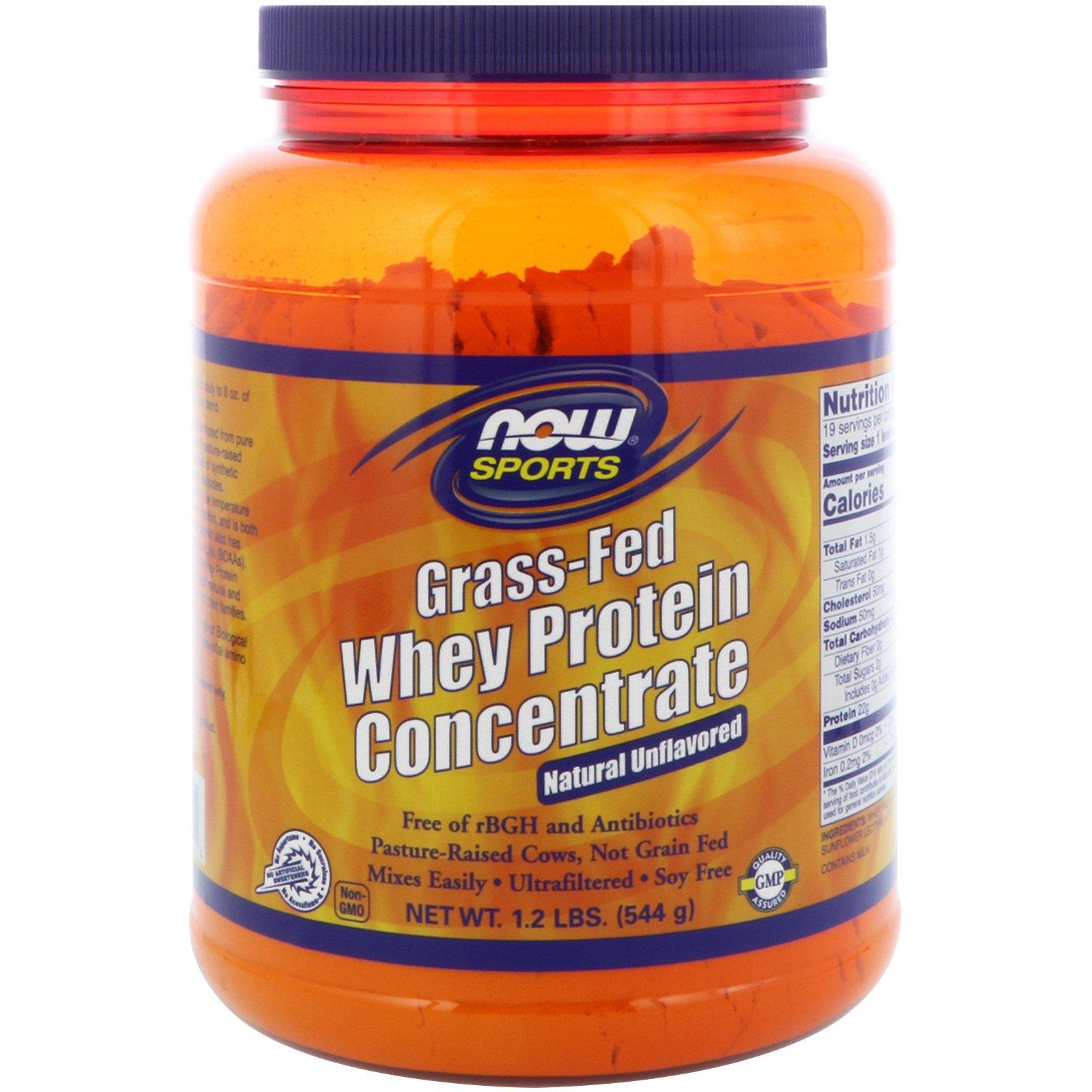 Now Foods, Натуральный концентрат сыворотки растительного протеина, не содержит ароматизаторов, 1,2 фунта (544 г)