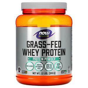 Now Foods, Grass-Fed Whey Protein Concentrate, Unflavored, 1.2 lbs (544 g) отзывы