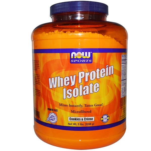 Now Foods, Sports, Whey Protein Isolate, Cookies & Creme, 5 lbs (2268 g) (Discontinued Item)