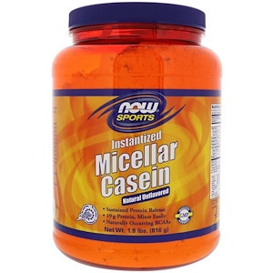 Now Foods, Sports, Micellar Casein, Instantized, Natural Unflavored, 1.8 lbs (816 g) отзывы покупателей