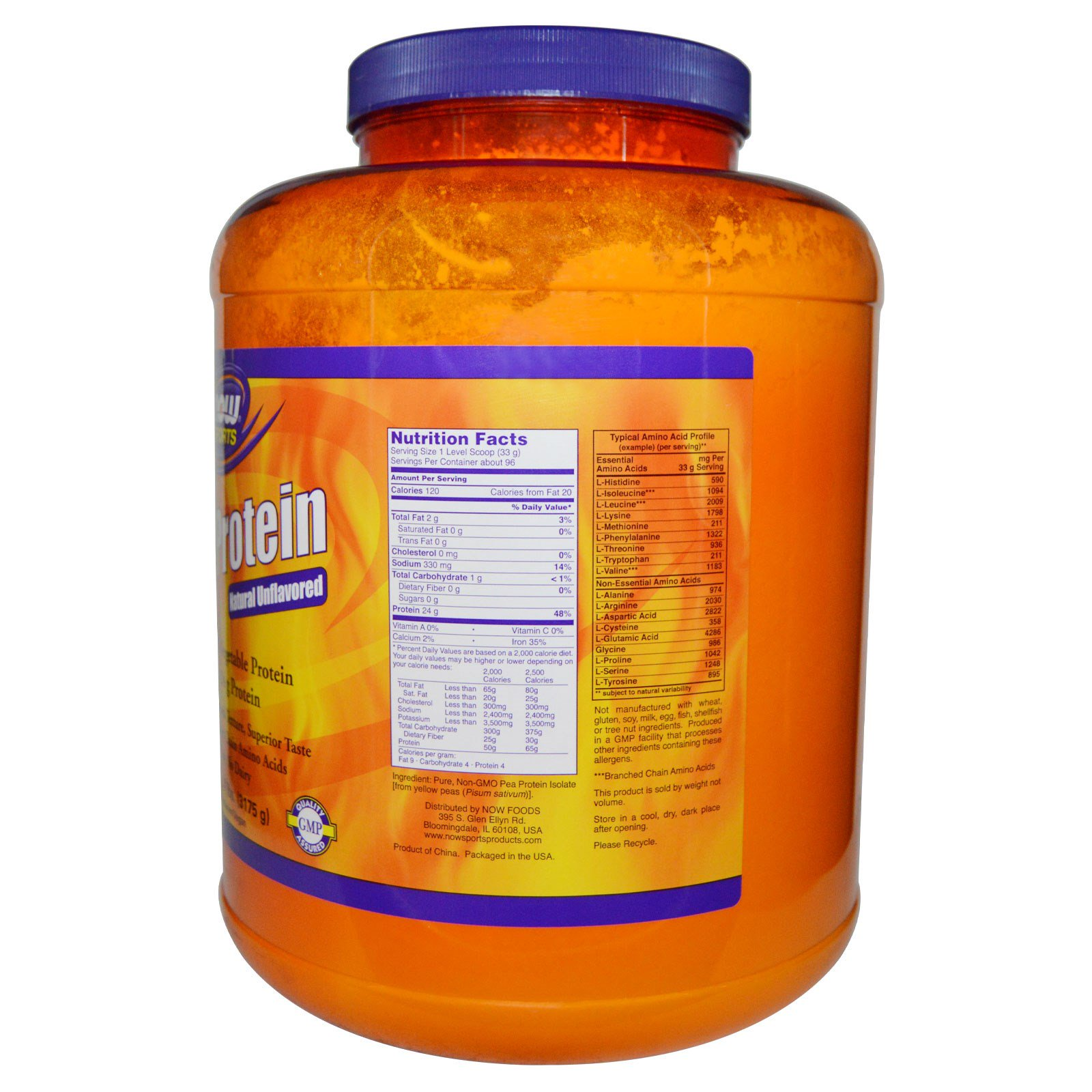 Now Foods Pea Protein Natural Unflavored