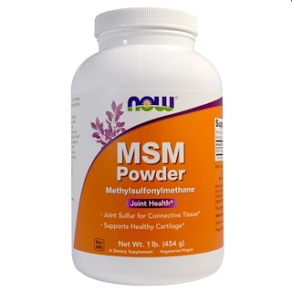 Now Foods, MSM-Pulver, 454 g (1lb)