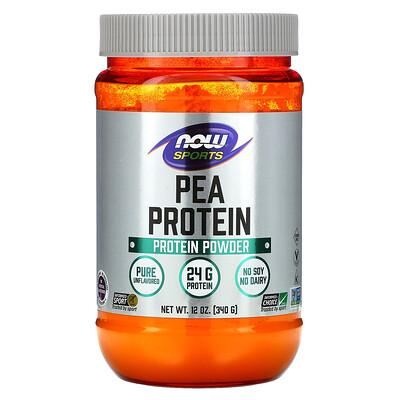 Купить Now Foods Sports, гороховый протеин, без добавок, 340г (12унций)