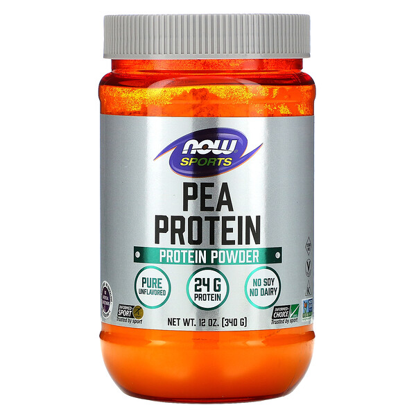 Sports, Pea Protein, Pure Unflavored, 12 oz (340 g)