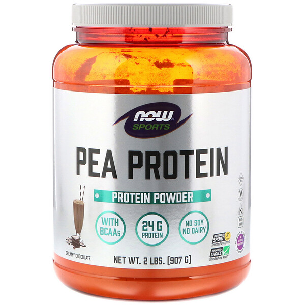 Sports, Pea Protein, Creamy Chocolate, 2 lbs (907 g)