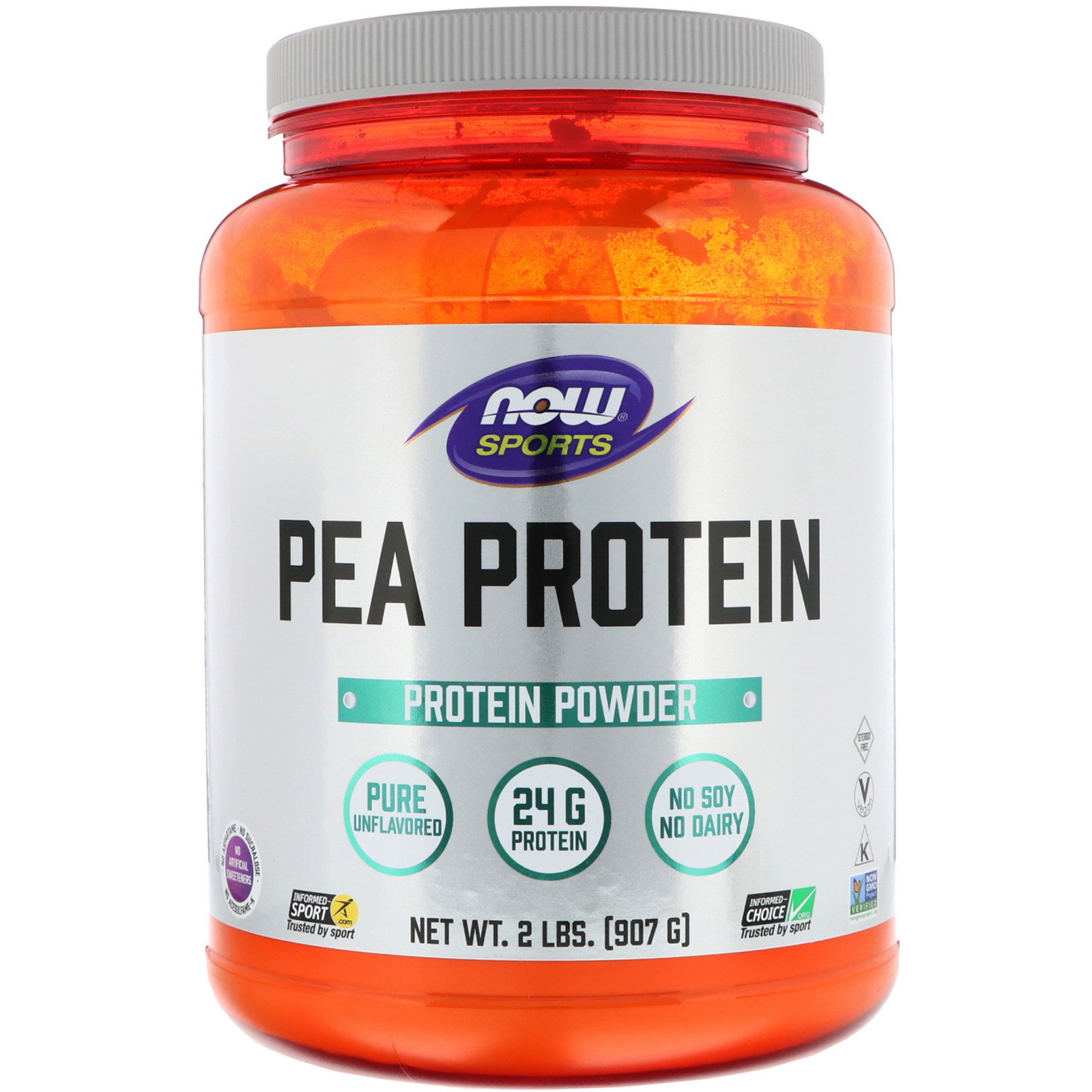 Now Foods, Sports, Pea Protein, Pure Unflavored, 2 lbs (907 g) - iHerb
