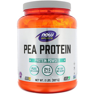 Now Foods, Sports, Pea Protein, Pure Unflavored, 2 lbs (907 g)