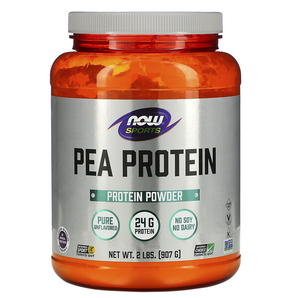 Sports, Pea Protein, Pure Unflavored, 2 lbs (907 g)