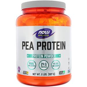 חלבון אפונה מומלץ: NOW Foods Pea Protein