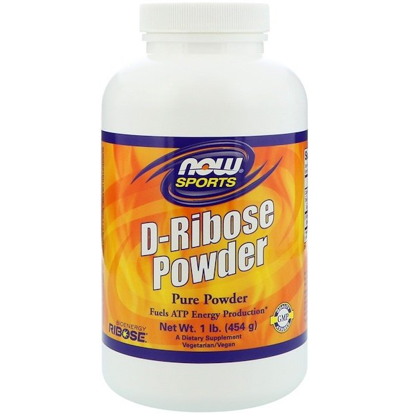Now Foods, Sports, D-Ribose Polvo, 1 lb (454 g)