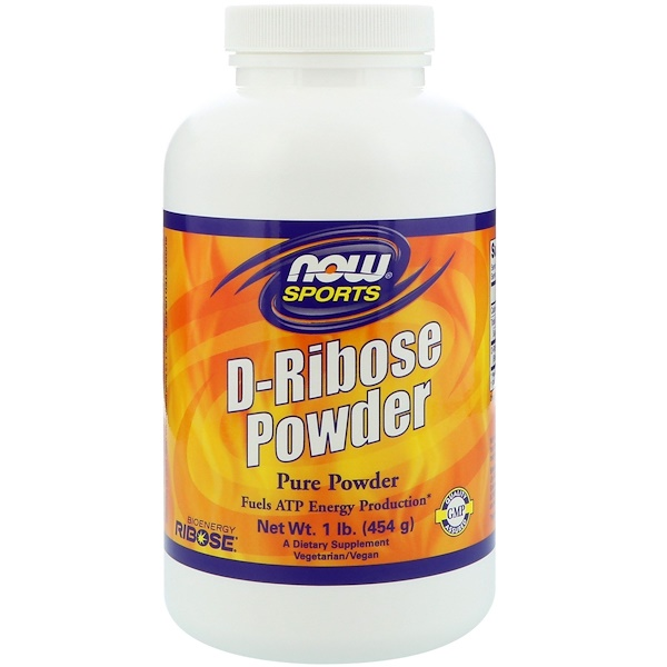 Now Foods, Sports, D-Ribose Powder, 1 lb (454 g)