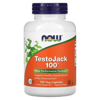 Now Foods, TestoJack 100, 120 كبسولة نباتية
