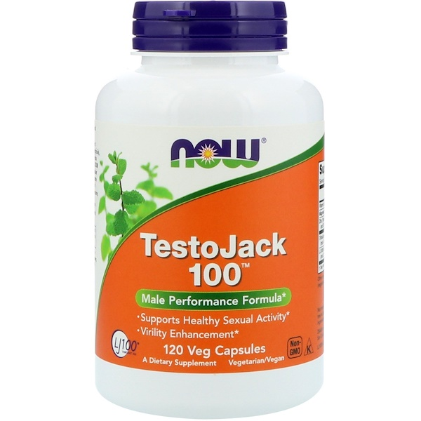 Now Foods, TestoJack 100, 120 كبسولة نباتية