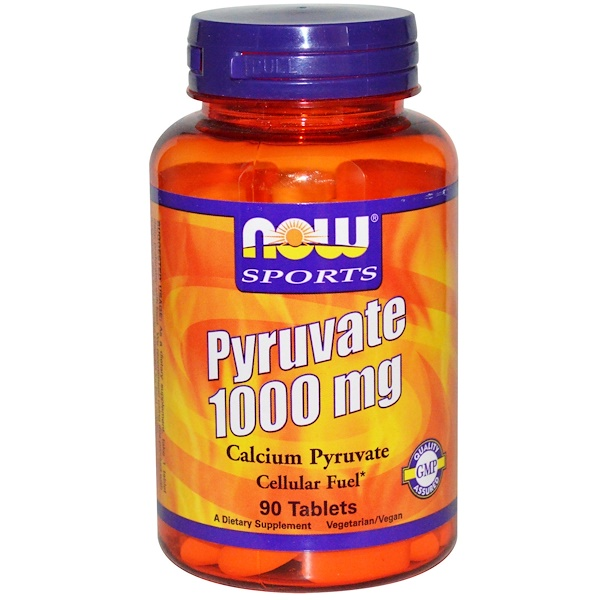 Now Foods, Pyruvate, 1000 mg, 90 Tablets (Discontinued Item)