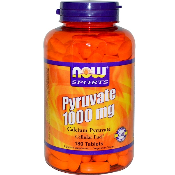 Now Foods, Sports, Pyruvate, 1000 mg, 180 Tablets (Discontinued Item)