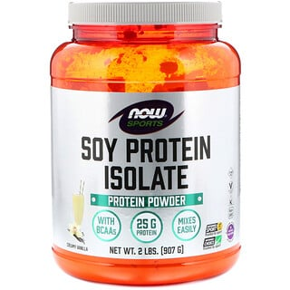 Now Foods, Sports, Soy Protein Isolate, Creamy Vanilla, 2 lbs (907 g)