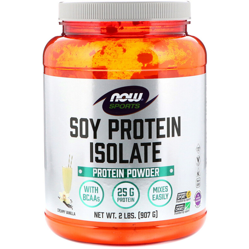Sports, Soy Protein Isolate, Creamy Vanilla, 2 lbs (907 g)