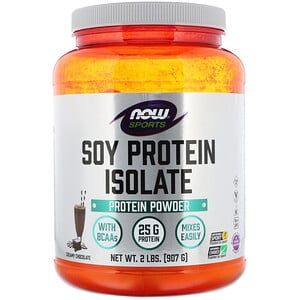 Now Foods, Sports, Soy Protein Isolate, Creamy Chocolate, 2 lbs (907 g) отзывы покупателей