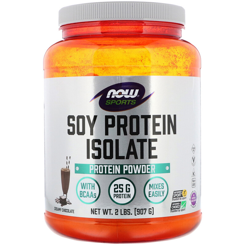 Sports, Soy Protein Isolate, Creamy Chocolate, 2 lbs (907 g)