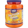 Now Foods, Sports, Aislado de Proteína de Soya, Natural sin sabor, 2 lbs (907 g)