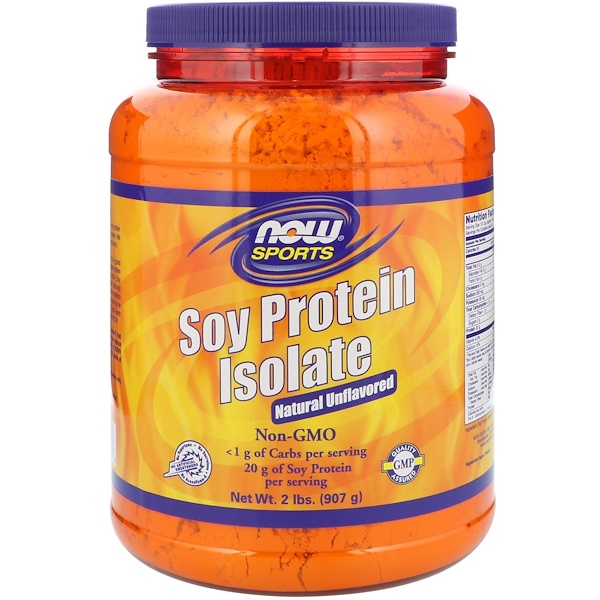 Sports, Soy Protein Isolate, Natural Unflavored, 2 lbs (907 g)