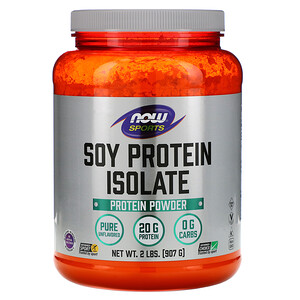 Now Foods, Sports, Soy Protein Isolate, Natural Unflavored, 2 lbs (907 g) отзывы покупателей