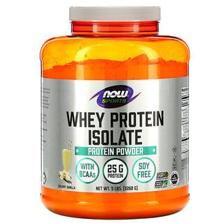 Now Foods, スポーツ、ホエイタンパク質アイソレート、クリーミーバニラ、5lb.(2,268g)
