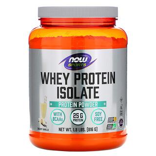 Now Foods, بروتين شرش اللبن المعزول، Sports، نكهة الفانيليا الكريمية، 1.8 رطل (816 جم)