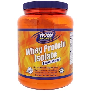 Now Foods, 분리 유청 단백질, 내추럴 바닐라, 1.8 lbs (816 g)