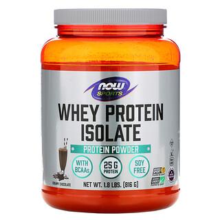 Now Foods, Sports، بروتين شرش اللبن المعزول، بنكهة الشيكولاتة والكريمة، 1.8 رطل (816 جم)