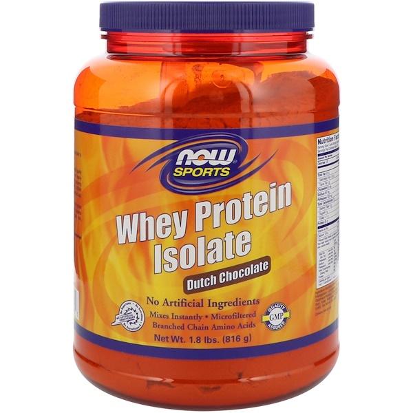 Now Foods, 運動型乳清蛋白分離物,荷蘭巧克力味,1、8磅(816克)